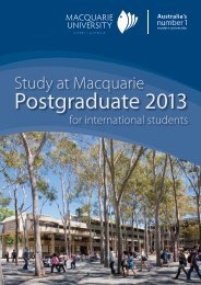 Postgraduate 2013 - Courses - Macquarie University