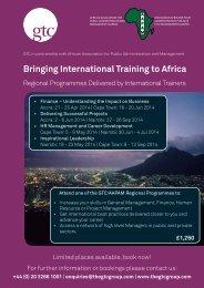 GTC-AAPAM regional programmes 2014