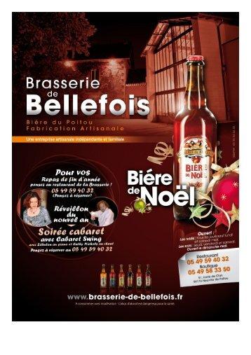 Menu Brasserie de Bellefois - ToutPoitiers