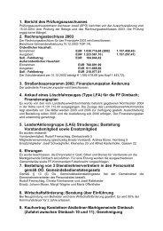 1. Bericht des Prüfungsausschusses 2. Rechnungsabschluss 2003 ...
