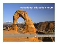 Vocational Education Forum - Grand County School District
