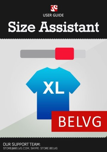 Size Assistant User Guide - BelVG Magento Extensions Store
