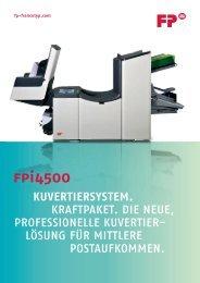 Prospekt FPi 4500 - Francotyp Postalia