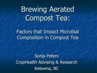 Brewing Aerated Compost Tea: - Compost Council of Canada