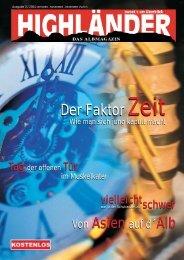 Der Faktor Zeit Der Faktor Zeit - Highländer Albmagazin