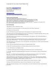 Lebenslauf Dr. Irene Suchy Stand Frühjahr 2012 1