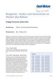 Reisebeschreibung - Rundreisen bei Reiseservice.de