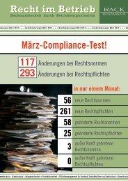 März-Compliance-Test! - RACK rechtsanwaelte