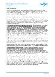 Mitteilung 15-09-2010 - dgaki