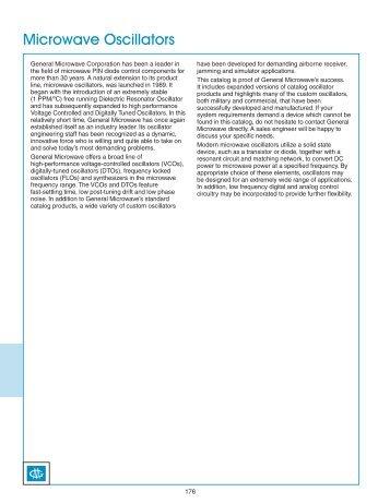 Microwave Oscillators - Admiral Microwaves Ltd
