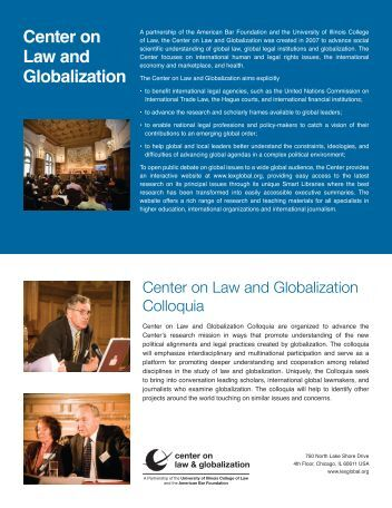 Download a copy - Center on Law and Globalization