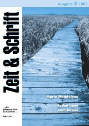 Heft 5/2005 - Zeit & Schrift