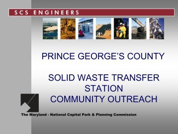 PRINCE GEORGE'S COUNTY SOLID WASTE TRANSFER STATION ...
