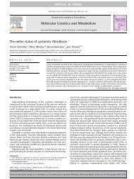 The redox status of cystinotic fibroblasts - Cystinosis Research ...