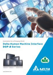 Delta Human Machine Interface Series DOP-B - Sit SpA