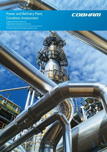 Power and Refinery Plant Condition Assessment