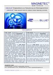 NANOPERM® Cool BLUE®-Kerne - MAGNETEC GmbH