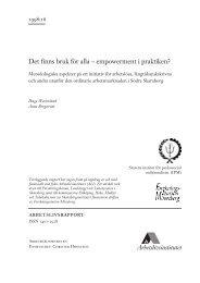 Det finns bruk för alla – empowerment i praktiken ... - Lunds universitet