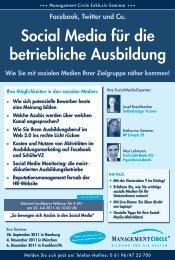 Social Media für die betriebliche Ausbildung - Management Circle AG