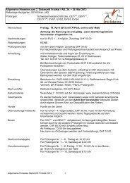 Allgemeine Hinweise zum 2. Distanzritt Fricktal / AG, 24. – 26.