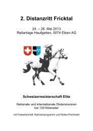 2. Distanzritt Fricktal 2013 Eiken, 24. - bei swissendurance.ch!