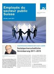 Employés du secteur public Suisse - Zentralverband Öffentliches ...
