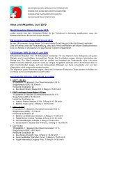 Infos und Aktuelles, Juni 2010 - bei swissendurance.ch!