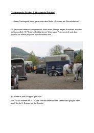 Trainingsritt für den 2. Distanzritt Fricktal - bei swissendurance.ch!