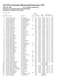 CEI 120 km Schweizer Meisterschaft Endurance J/YR - bei ...
