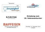 Einladung 25 Veteranenturnier Baden-Regio Dez. 12 - CC Aarau