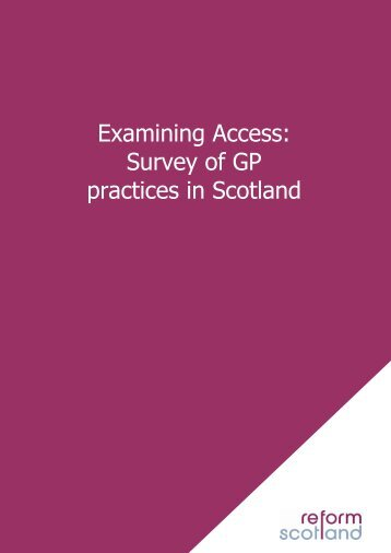 Examining_Access_Survey_of_GP_practices_in_Scotland