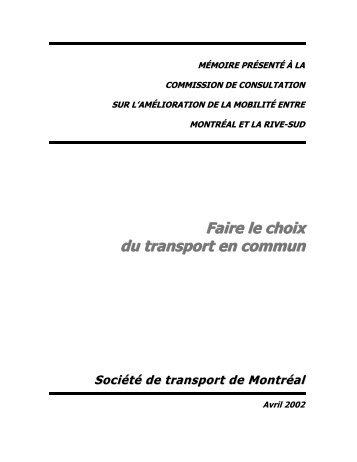 Faire le choix du transport en commun - Société de transport de ...