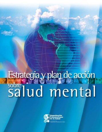 Estrategia y Plan de Acción sobre Salud Mental