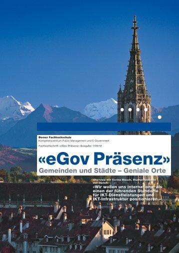 «eGov Präsenz» - PUBLIS Public Info Service AG