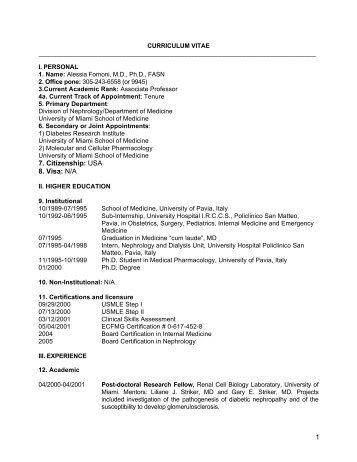 s cv physicians database login university of miami