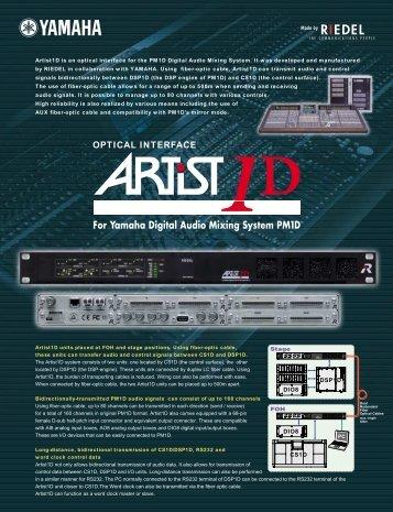 Artist1D Datasheet 735.1KB - Yamaha Commercial Audio