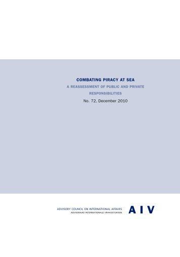 comb ating piracy at sea - Adviesraad Internationale Vraagstukken