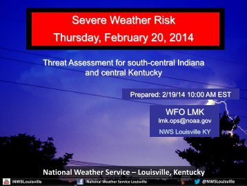 Severe Weather Risk Thursday, February 20, 2014
