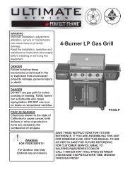 4-Burner LP Gas Grill - Sure Heat Manufacturing