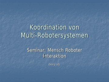 Koordination von Multi-Robotersystemen