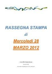 Rassegna stampa di mercoledì 28 marzo 2012 - Atap