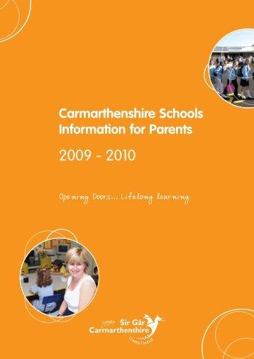 carmarthenshire schools - Cyngor Sir Caerfyrddin