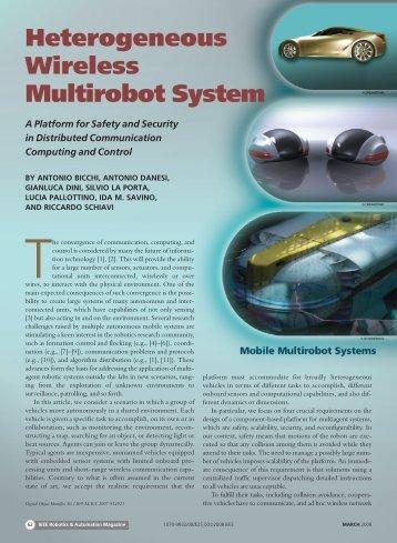 Heterogeneous Wireless Multirobot System - Centro E Piaggio