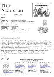 Pfarr- Nachrichten - St. Margareta Neuenkirchen