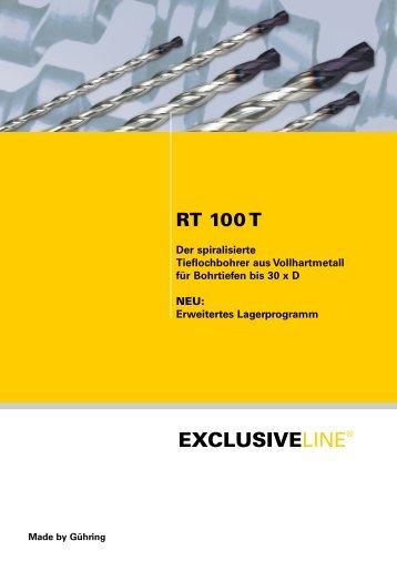 RT 100 T – Lagerprogramm