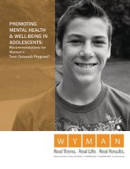 promoting mental health & well-being in adolescents - Wyman