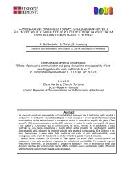 la sintesi dello studio - Marketing sociale e Comunicazione per la ...