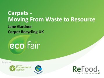 Carpets - Moving From Waste to Resource - eco-fair