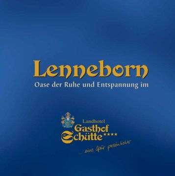 "Wellness-Prospekt ""Lenneborn"" - Landhotel Gasthof Schütte in ..."