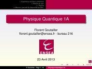 Physique Quantique 1A - Ensea